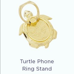 NWT Lilly Pulitzer turtle phone ring stand gold